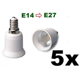 NedRo - E14 to E27 Socket Converter 06088 - Light Fittings - 06088-5x www.NedRo.us