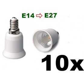 NedRo - E14 to E27 Socket Converter 06088 - Light Fittings - 06088-10x www.NedRo.us
