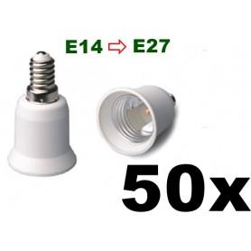 NedRo - E14 to E27 Socket Converter 06088 - Light Fittings - 06088-50x www.NedRo.us