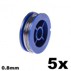 Unbranded - Soldeertin 0.8mm - Soldeer accessoires - AL483-5x-C www.NedRo.nl