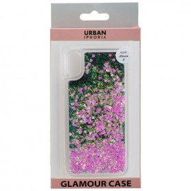 Peter Jäckel, Urban style back cover GLAMOR black frame for Apple IPHONE X - Pink, iPhone phone cases, ON4774, EtronixCenter.com