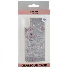 Peter Jäckel, Glamour backcover voor iPhone X - zilver glitters, iPhone telefoonhoesjes, ON4776, EtronixCenter.com