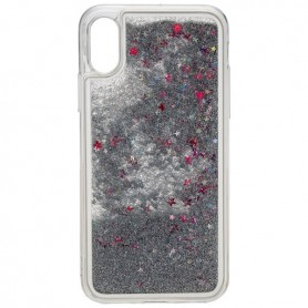 Peter Jäckel - Glamour backcover voor iPhone X - zilver glitters - iPhone telefoonhoesjes - ON4776-C www.NedRo.nl