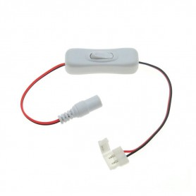 NedRo - 8mm 2-Pin Single Color LED Strip DC Female Wire Switch - LED Accessories - LSCC24 www.NedRo.us