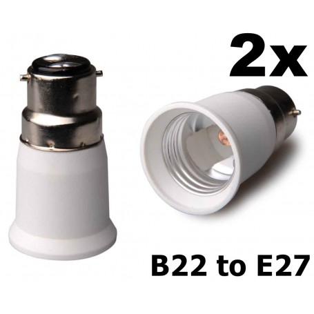 NedRo - B22 to E27 Base Converter - Light Fittings - LCA119-CB