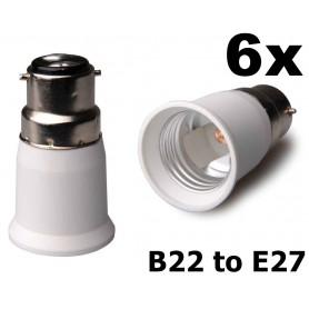 NedRo - B22 to E27 Base Converter - Light Fittings - AL262-6x www.NedRo.us