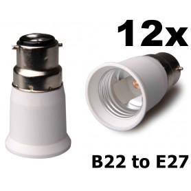 NedRo - B22 to E27 Base Converter - Light Fittings - AL262-12x www.NedRo.us