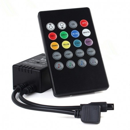 NedRo, 20 Key IR Remote RGB Music LED Controller, LED Accessoires, LCR09, EtronixCenter.com