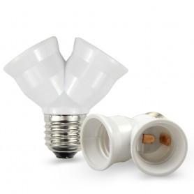 NedRo, Convertor dulie fitting fasung E27 la 2 x E27, Corpuri de iluminat, AL263-CB, EtronixCenter.com
