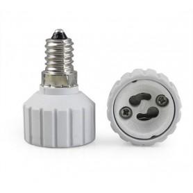 NedRo - E14 to GU10 Socket Converter - Light Fittings - AL492-12x www.NedRo.us