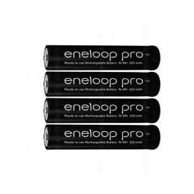Panasonic - AAA R3 Panasonic Eneloop PRO Rechargeable Battery - Size AAA - NK055 www.NedRo.us