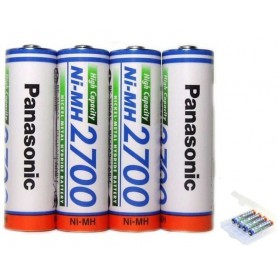 Panasonic - AA 2700mAh Panasonic Rechargeable Battery - Size AA - NK130 www.NedRo.us