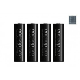 Eneloop - AA HR6 Panasonic Eneloop PRO 2550mAh 1.2V Oplaadbare Batterij - AA formaat - NK060-12x www.NedRo.nl
