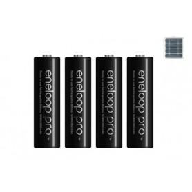 Eneloop - AA HR6 Panasonic Eneloop PRO 2550mAh 1.2V Rechargeable Battery - Size AA - NK060-12x www.NedRo.us