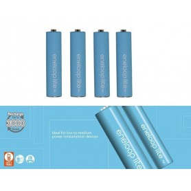 Panasonic - Panasonic Eneloop Lite AAA R3 1.2V 550mAh Baterii Reincarcabile - Format AAA - NK037-C www.NedRo.ro