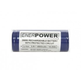 Enerpower - Enerpower 26650 4700mAh 14.1A Protected - Size C D and XL - NK142-CB www.NedRo.us