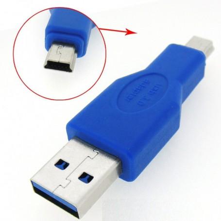NedRo, USB 3.0 Male naar Mini USB Male Adapter AL196, USB adapters, AL196, EtronixCenter.com
