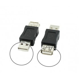 NedRo, USB 2.0 A Female - Male Adapter, USB adapters, AL848, EtronixCenter.com