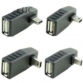 NedRo - Mini USB Male naar USB Female Haakse Adapter - USB adapters - AL566 www.NedRo.nl