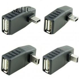 NedRo, Mini USB Tată la USB Mamă Adaptor in Unghi, Adaptoare USB , AL569-CB, EtronixCenter.com