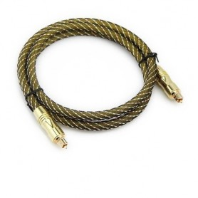 Optical Toslink cable gold plated