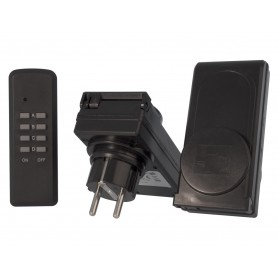 Calex, 2x Afstandbedienbare Stekkerdoos voor buitengebruik, Pluggen en Adapters, CA036, EtronixCenter.com