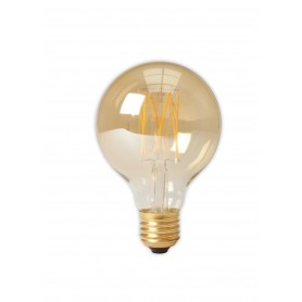Calex - Vintage LED Lamp 240V 4W 320lm E27 GLB80 GOLD 2100K Dimmable - Vintage Antique - CA073-1x www.NedRo.us