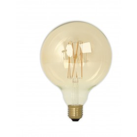 Calex - Vintage LED Lamp 240V 4W 320lm E27 GLB125 GOLD 2100K Dimmable - Vintage Antique - CA076-1x www.NedRo.us