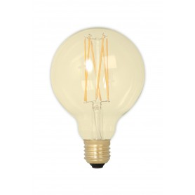 Calex - Vintage LED Lamp 240V 4W 320lm E27 GLB95 GOLD 2100K Dimmable - Vintage Antique - CA078-1x www.NedRo.us