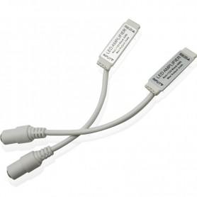 NedRo - DC12V 24V Mini RGB Led Amplifier Signal Female DC Connector - LED Accessories - AL479 www.NedRo.us