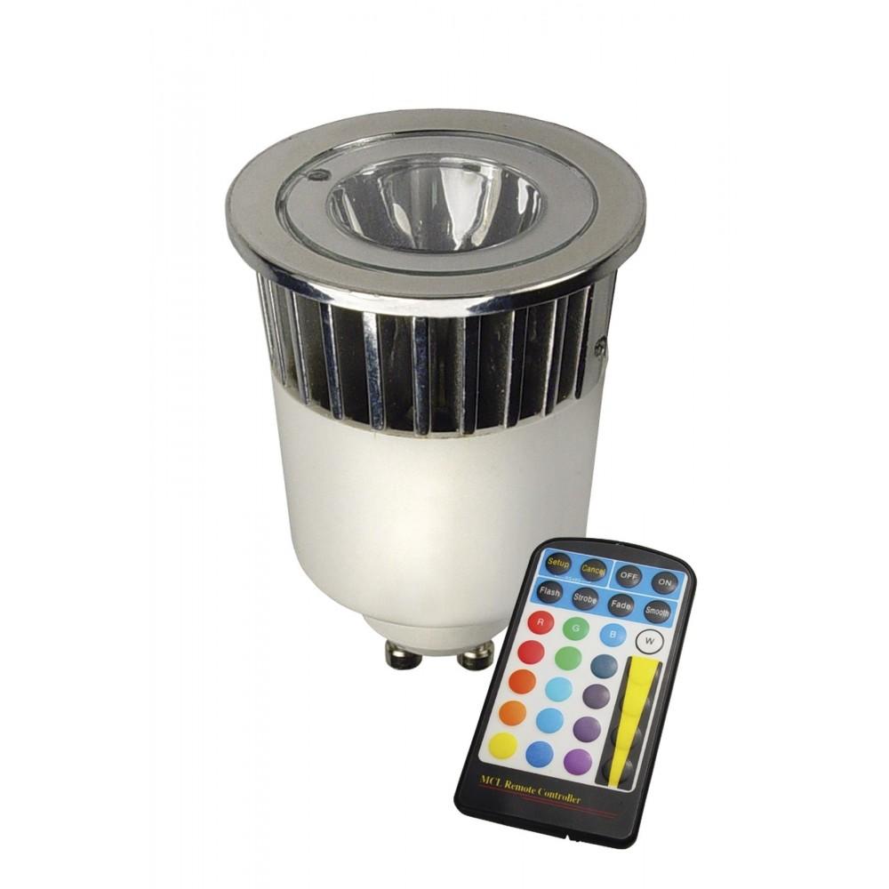 "Calex - LED GU10 240V 5W \\""wissel kleur\\"" met afstandbediening CA027 - GU10 LED - CA027 www.NedRo.nl"