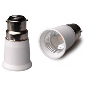 NedRo - B22 to E27 Base Converter - Light Fittings - AL262-2x www.NedRo.us