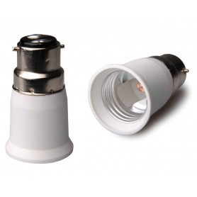 NedRo, B22 naar E27 Fitting Omvormer - 2 stuks, Lamp Fittings, LCA119-CB, EtronixCenter.com