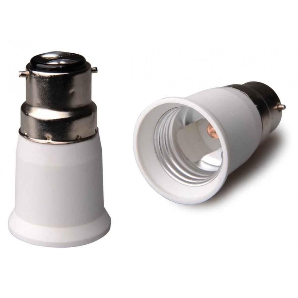 NedRo - B22 naar E27 Fitting Omvormer - Lamp Fittings - AL262-2x www.NedRo.nl