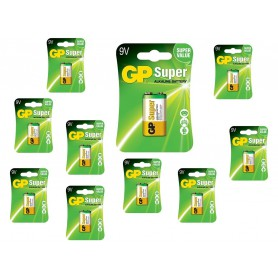 GP - GP Super Alkaline 6LR61/9V battery BL185 - Other formats - BL185-10x www.NedRo.us