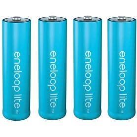 Eneloop, AA R6 Panasonic Eneloop Lite 1.2V 1000mAh Oplaadbare Batterijen, AA formaat, NK120-CB, EtronixCenter.com