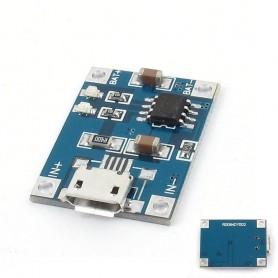 NedRo - 5V Micro USB 1A 18650 Battery Charging Board Module - Overige batterijen - AL887-1x www.NedRo.nl