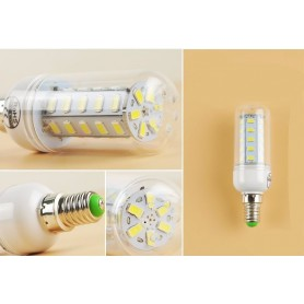 NedRo, 18W E14 Bec LED tip Corn Alb Cald 56 LED`s SMD5730 AL351, E14 LED, AL351, EtronixCenter.com