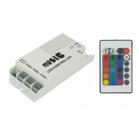NedRo - 60W muziekcontroller voor RGB LED Strips - LED Accessoires - LED06043 www.NedRo.nl