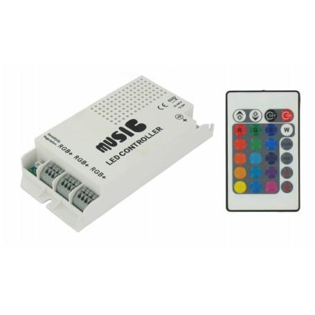 NedRo - 60W Music Controller voor RGB (12V / 24V) - LED Accessories - LED06043 www.NedRo.us