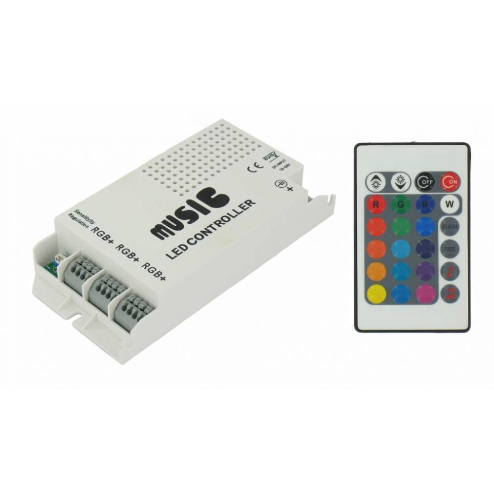 NedRo - 60W Music Controller voor RGB (12V / 24V) - LED Accessorii - LED06043 www.NedRo.ro