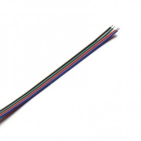 NedRo - Extension Connector Wire for RGB LED strips - LED connectors - LSCC46-5M www.NedRo.us