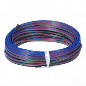 NedRo - Draad voor RGB LED strips - LED connectors - LSCC46-100M www.NedRo.nl