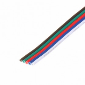 NedRo, Draad met 5 aders voor RGBW LED strips, LED connectors, LSCC50-CB, EtronixCenter.com