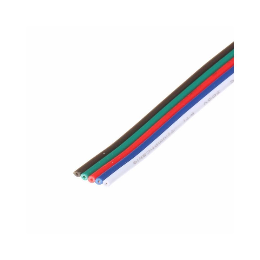NedRo - Draad met 5 aders voor RGBW LED strips - LED connectors - LSCC50-5M www.NedRo.nl