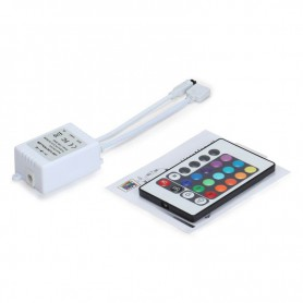 NedRo - RGB LED IR Controller met Afstandsbediening 24 knoppen - LED Accessoires - LCR18 www.NedRo.nl