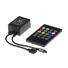 NedRo, 20 Key IR Remote RGB Music LED Controller, LED Accessories, LCR09, EtronixCenter.com