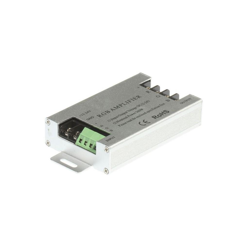NedRo - 12V/24V 30A RGB LED signaalversterker Controller - LED Accessoires - LCR66 www.NedRo.nl
