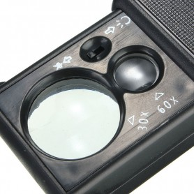 NedRo, 4in1 30x-60x Zoom lupă cu UV și LED alb, Lupe și Microscoape, AL003, EtronixCenter.com