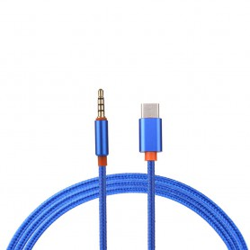NedRo - USB-C Type C Male to 3.5mm Male Jack Audio - USB to Audio cables - AL029-CB www.NedRo.us